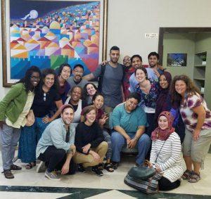photo of delegation in Israel/Palestine