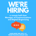 We're hiring a remote half-time Manager of Communications and Digital Organizing
